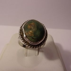 Jewelry - Green Turquoise Silver Ring Size 5
